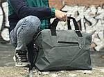 Стильная серая дорожная сумка, фото 4