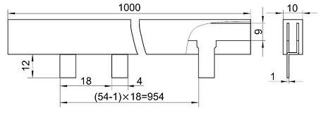 Шина соединительная типа PIN (штырь) 2Р 63А (1м) IEK, фото 2