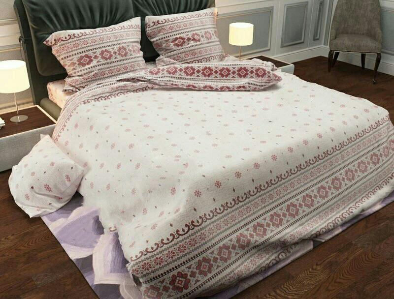 Качественный комплект постельного белья семейка, вышиваванка