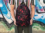 Спортивный рюкзак черный с красным, фото 2