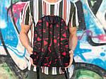 Спортивный рюкзак черный с красным, фото 3