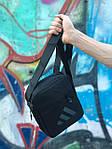 Мужская черная сумка на плече Adidas, фото 2