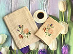 Набор полотенец серый цветы (2 шт.), фото 2