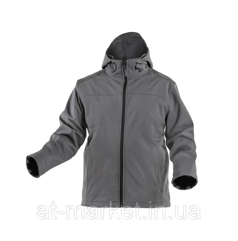 Куртка софтшелл с капюшоном, графит, M (комплект с брюками ELDE) HOEGERT INN HT5K254-M
