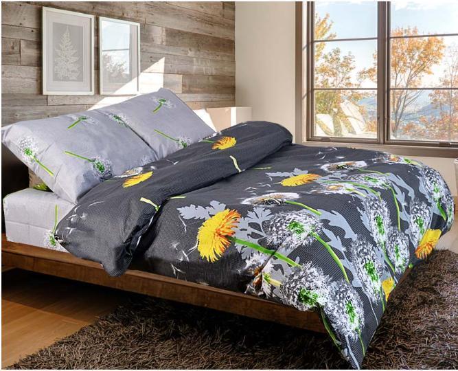 Комплект красивого постельного белья семейка - кульбабки