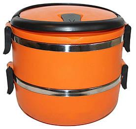 Ланч-бокс 1 л оранжевый Henks LB-010-orange