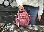 Женская сумка Kanken c плечевым ремнем, пудровая, фото 2