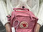 Женская сумка Kanken c плечевым ремнем, пудровая, фото 3