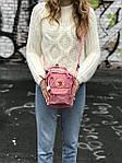 Женская сумка Kanken c плечевым ремнем, пудровая, фото 5