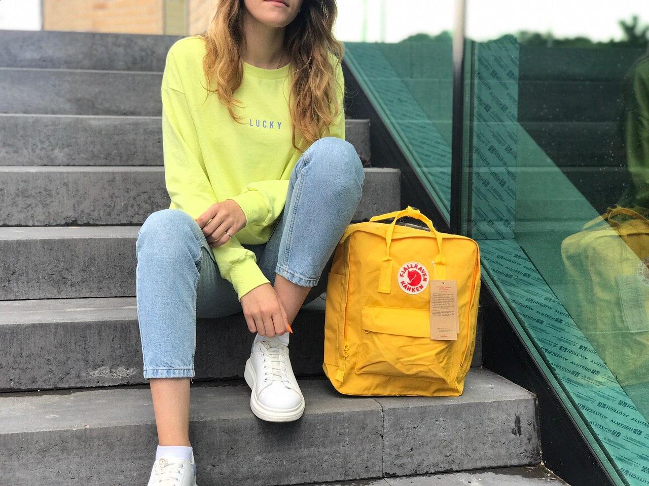 Женский cпортивный рюкзак Kanken, желтый
