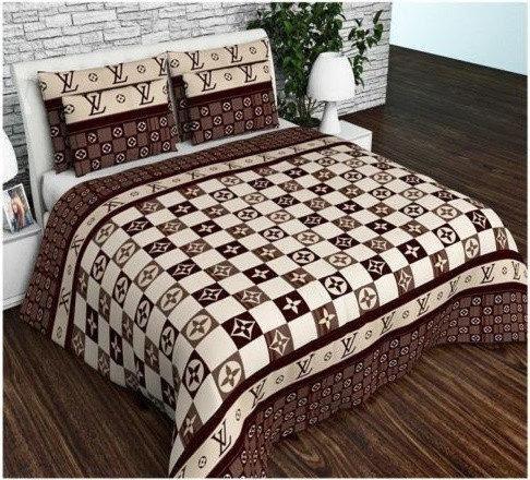 Комплект стильного постельного белья семейка, луи витон