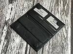 Мужской черный бумажник из натуральной кожи, фото 3