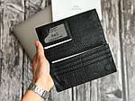 Мужской черный бумажник из натуральной кожи (портмоне), фото 4