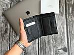 Мужской черный бумажник из натуральной кожи, фото 2