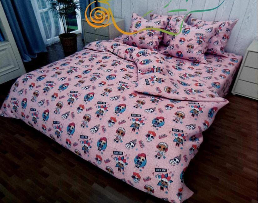 Красивое детское постельное белье полуторка, лол