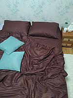 Стильное евро постельное белье из страйп-сатина