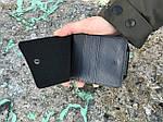 Мужской бумажник из искусственной кожи, черный, фото 2