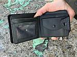 Мужской бумажник из искусственной кожи, черный, фото 3