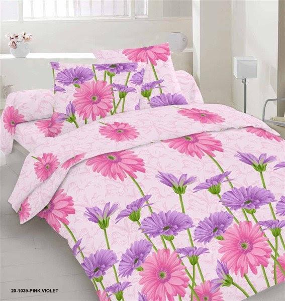Качественное красивое постельное белье полуторка, цветочное, гербери