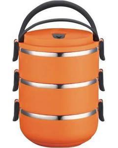 Ланч-бокс 1.5 л оранжевый Henks LB-015-orange