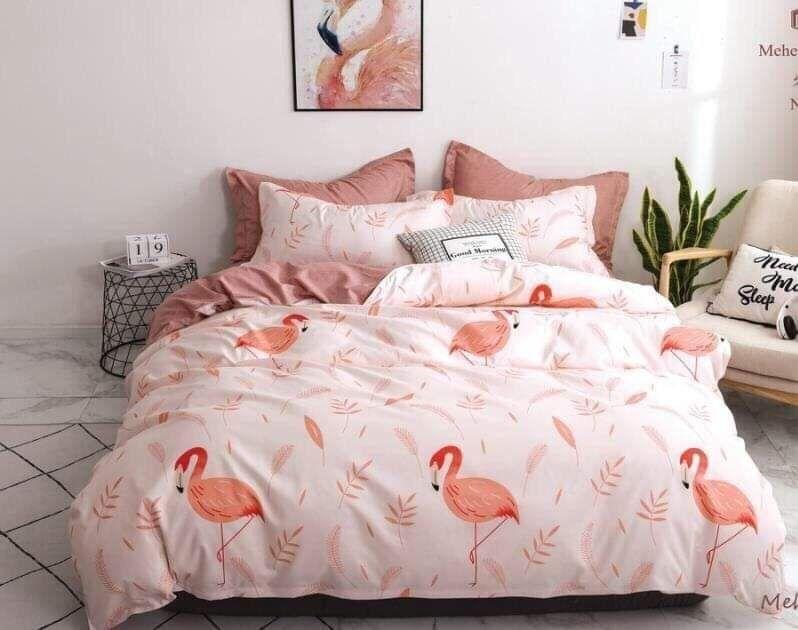Постельное белье семейка с фламинго