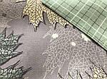 Постельное белье евро с листвой, фото 3