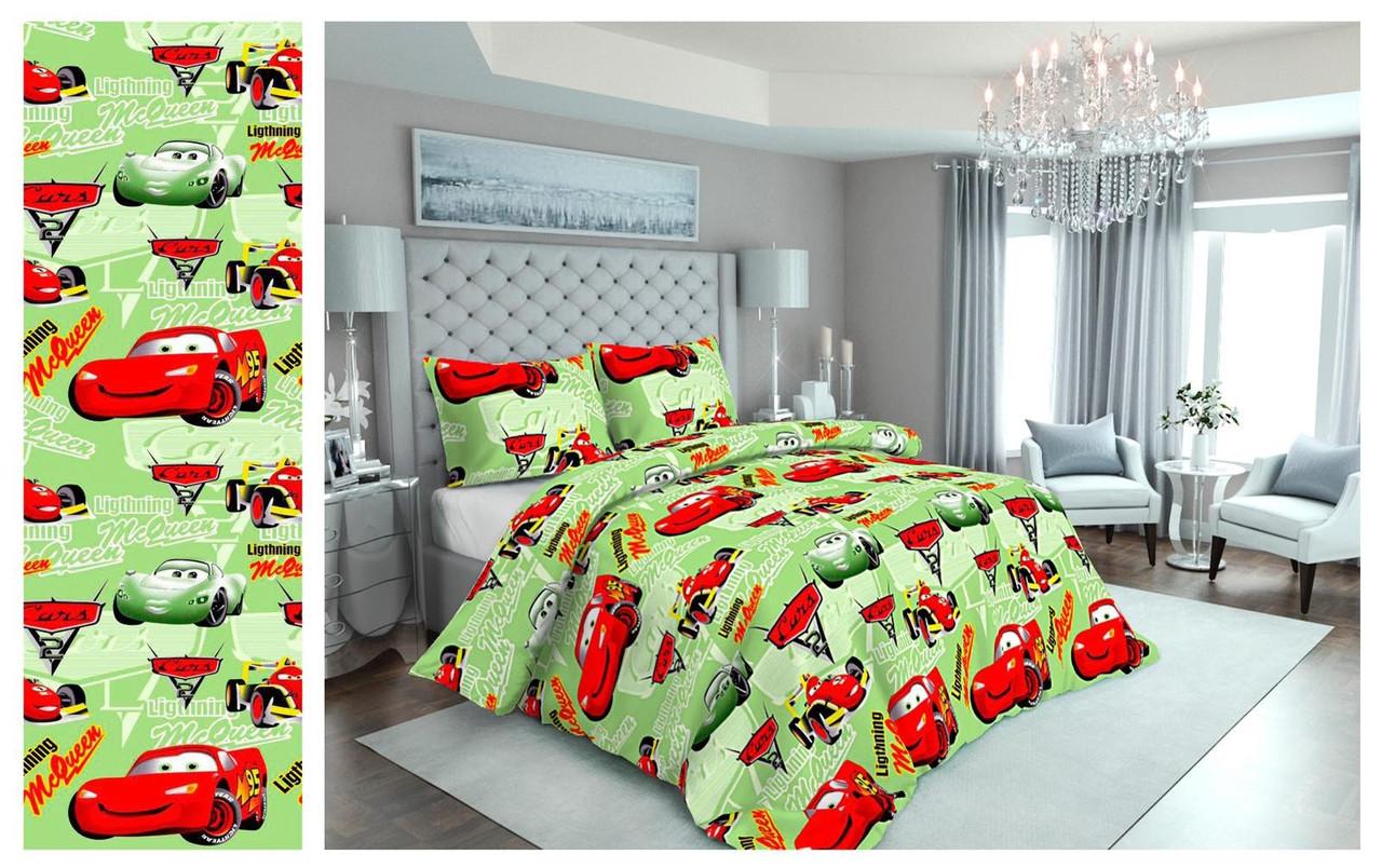 Качественное детское постельное белье для мальчиков, полуторка, тачки маквин