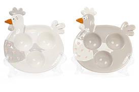 Подставка для 3 яиц керамическая Курочка Bona Di 834-717