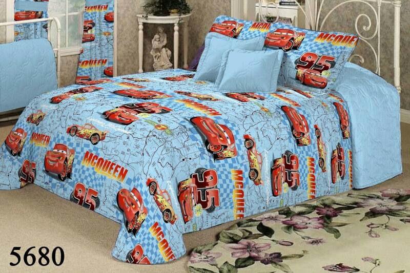 Качественное детское постельное белье для мальчиков полуторка, тачки карта