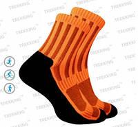 Функціональні анатомічні шкарпетки ShortDry (36-39) S чорно-помаранчеві.