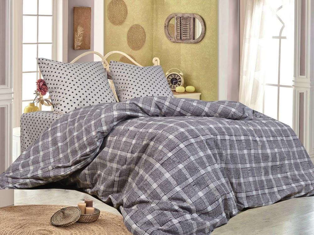 Комплект качественного постельного белья, размер євро, крейг
