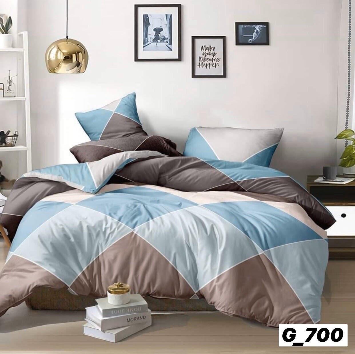 Комплект качественного постельного белья, размер євро, ромб