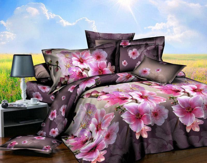 Комплект красивого и качественного постельного белья семейка, цветок