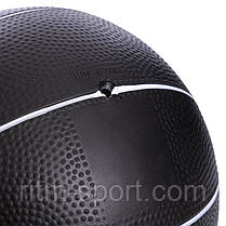 Мяч медицинский резиновый с утяжелением  5 кг, фото 3