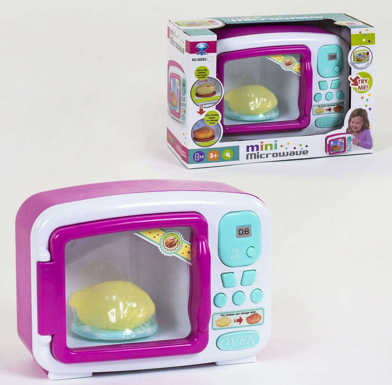 Игрушечная микроволновая печь для ребенка 66088, со звуковыми и световыми эффектами