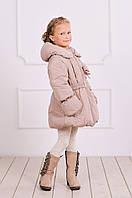 Зимняя детская куртка-пальто для девочки, теплая зимняя курточка, удлиненная
