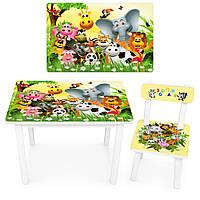 Детский стол со стульчиком Bambi BSM2K-46 Животные
