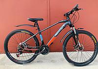 Горный спортивный взрослый велосипед Azimut Gemini (Азимут Жемини) 29 дюймов рама 17 черно-красный