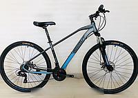 Горный спортивный взрослый велосипед Azimut Gemini (Азимут Жемини) 29 дюймов рама 17 серо-голубой