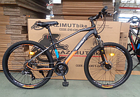 Горный спортивный взрослый велосипед Azimut Gemini (Азимут Жемини) 29 дюймов рама 17 черно-оранжевый