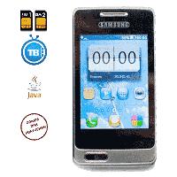 Телефон Самсунг А 320 на 2 сим карты,в подарок чехол и стилус.