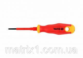 Отвертка Insulated диэлектрическая крестовая PH0, 60 мм VDE ДО 1000 В YATO Professional