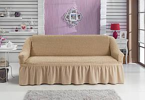 Чехол на диван с юбкой Бежевый Home Collection Evibu Турция 50053