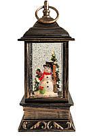 """Декоративний новорічний ліхтар круглий """"Санта з подарунками"""" (NG-WDL1610)"""