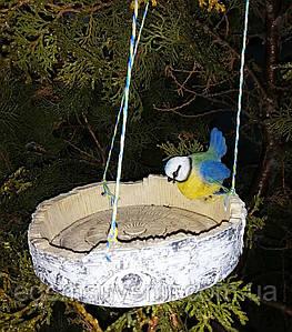 Кормушка для птиц синичка на березе
