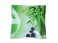 Тарелка квадратная 20см Зеленый бамбук SNT 306