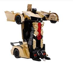 Іграшка машинка трансформер робот на пульті управління авторобот Жовта, фото 3