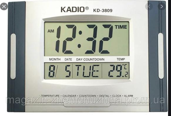 Sale! Электронные настольные цифровые часы KD 3809, фото 2