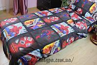 Детское постельное полуторное белье Человек Паук, Бязь Люкс