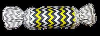Подушка Хатка Конфета Египет Серая с желтым
